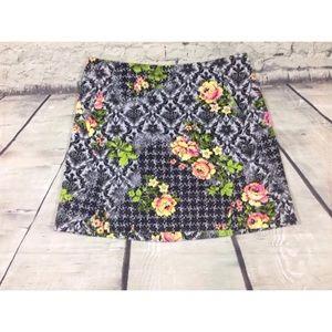 Topshop skirt size 8 floral